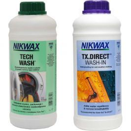 Zestaw pielęgnacyjny NIKWAX Twin Pack: Tech Wash 1L / TX. Direct Wash-In 1L
